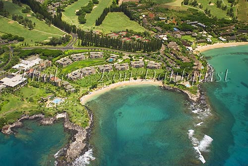 Aerial of Kapalua and Kapalua Bay, Maui, Hawaii Photo - Hawaiipictures.com