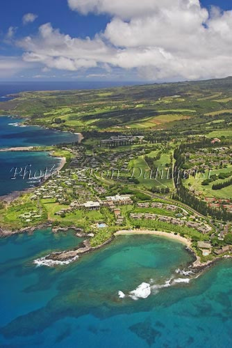 Aerial of Kapalua and Kapalua Bay, Maui, Hawaii Stock Photo - Hawaiipictures.com