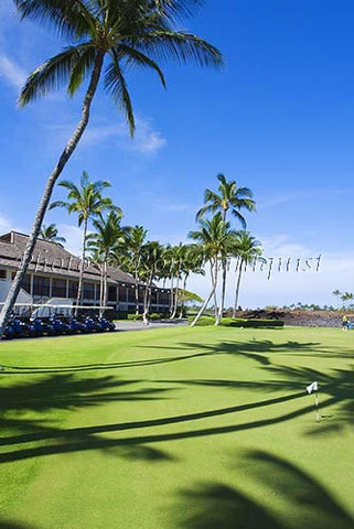 Clubhouse at the Mauna Lanai Golf Course, Big Island of Hawaii - Hawaiipictures.com