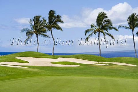 Mauna Lanai Golf Course and sand traps, Big Island of Hawaii - Hawaiipictures.com