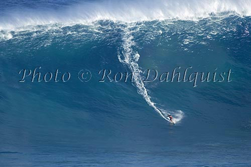 Surfer, Garrett, MacNamara, on a big day at Peahi, also known as Jaws, Maui, Hawaii MNR Picture