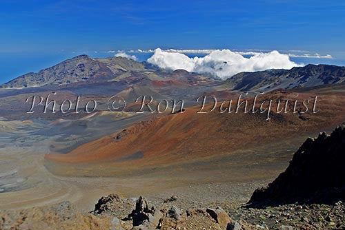 View of cinder cones in Haleakala Crater, Maui, Hawaii Picture - Hawaiipictures.com