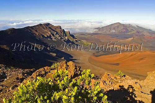 View of cinder cones in Haleakala Crater, Maui, Hawaii Photo