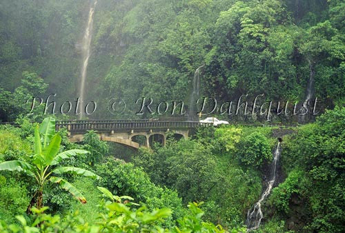 Old bridge on the road to Hana, Maui, Hawaii