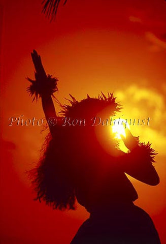 Hula Dancer at Sunset - Hawaiipictures.com