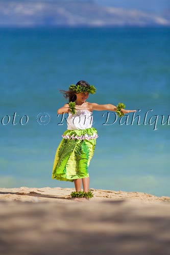 Keiki hula dancer, Maui, Hawaii Picture Photo Stock Photo