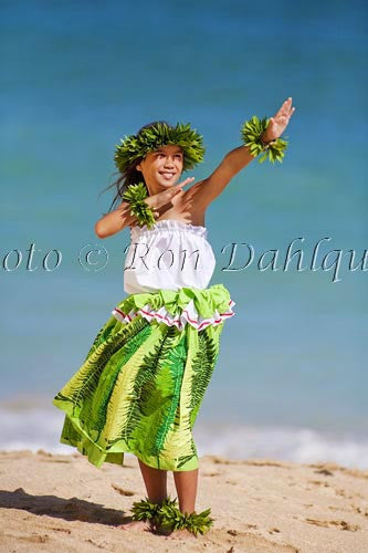 Keiki hula dancer, Maui, Hawaii Photo Stock Photo Print