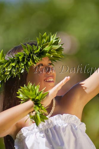 Keiki hula dancer, Maui, Hawaii Picture Photo Stock Photo Print
