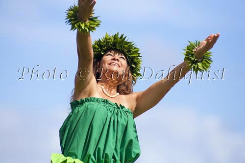 Hula Kahiko dancer, Maui, Hawaii MR Photo Stock Photo