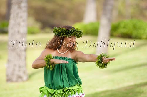 Hula Kahiko dancer, Maui, Hawaii Photo