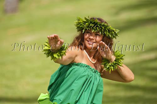 Hula Kahiko dancer, Maui, Hawaii Picture