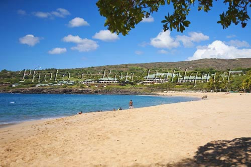 Hulopoe Beach, Manele Bay, and Four Seasons Resort, Lanai, Hawaii Picture Photo