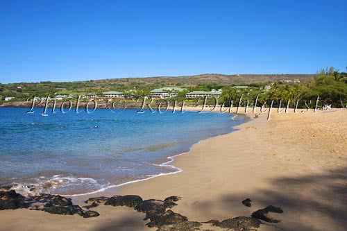 Hulopoe Beach, Manele Bay, and Four Seasons Resort, Lanai, Hawaii