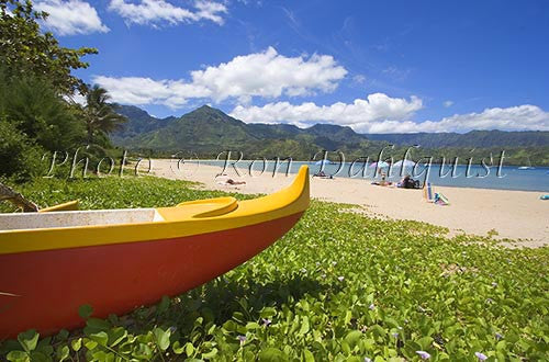 Hanalei Beach and Bay, Princeville, Kauai, Hawaii