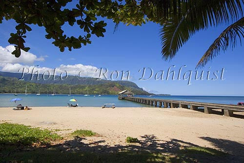 Hanalei Beach and Bay, Princeville, Kauai, Hawaii Picture Photo