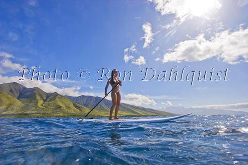 Stand-up paddling with Trilogy Excursions Ultimate Adventure, Maui, Hawaii