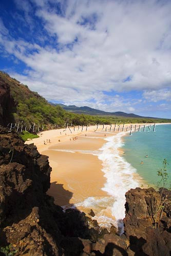 Oneloa Beach, Big Beach, Makena, Maui, Hawaii Picture Photo Stock Photo Print