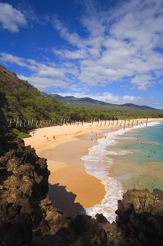 Oneloa Beach, Big Beach, Makena, Maui, Hawaii Stock Photo Print