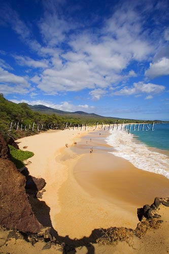 Oneloa Beach, (Big Beach), Maui, Hawaii Picture Photo