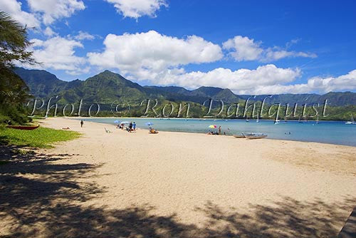 Hanalei Beach and Bay, Princeville, Kauai, Hawaii Photo