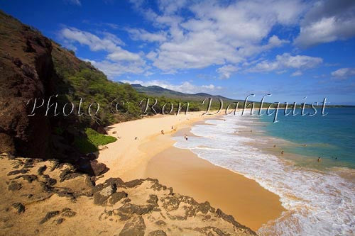Oneloa Beach, Big Beach, Makena, Maui, Hawaii Picture Print