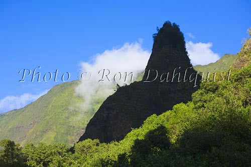 Iao Needle at Iao Valley State Park, Maui, Hawaii Photo Stock Photo