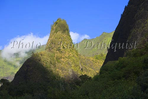 Iao Needle at Iao Valley State Park, Maui, Hawaii Stock Photo