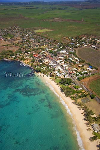 Aerial view of Paia along Maui's north coast, HI - Hawaiipictures.com