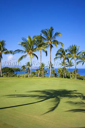 Wailea Gold Golf Course, Maui, Hawaii Photo Stock Photo