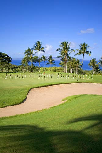 Wailea Gold Golf Course, Maui, Hawaii Picture Stock Photo