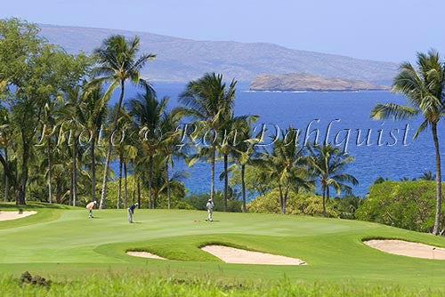 Golfers on Wailea Gold Golf Course, Maui, Hawaii Photo