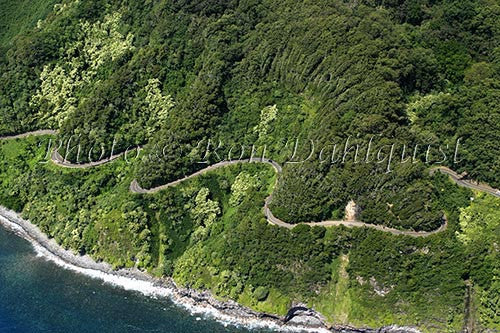 Aerial of the road to Hana, Maui, Hawaii Picture Photo - Hawaiipictures.com