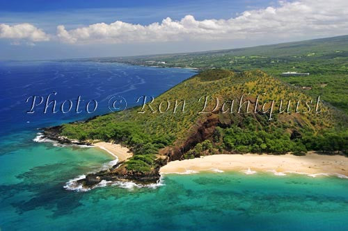 Aerial of Big Beach and Little Beach, Makena, Maui, Hawaii Picture - Hawaiipictures.com