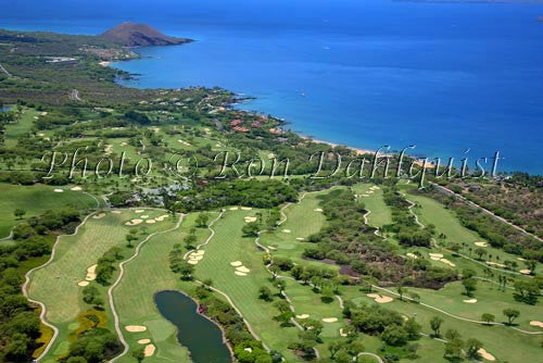 Aerial of Wailea golf courses, Maui, Hawaii - Hawaiipictures.com