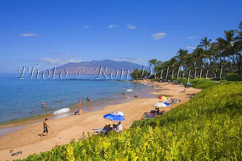 Ulua Beach, Wailea, Maui, Hawaii Stock Photo