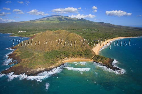 Aerial of Big Beach and Little Beach, Makena, Maui, Hawaii - Hawaiipictures.com