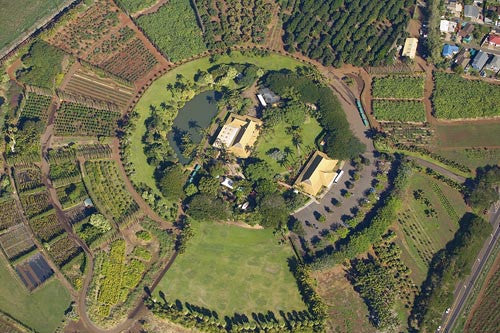 Aerial of Maui Tropical Plantation, Maui, Hawaii - Hawaiipictures.com