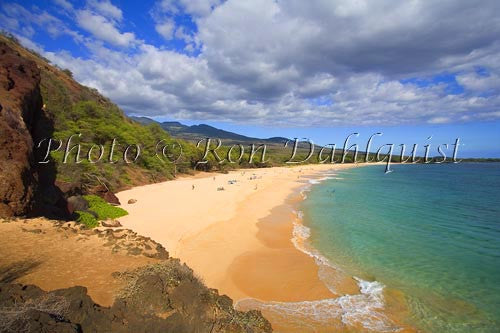 Oneloa Beach, Big Beach, Makena, Maui, Hawaii Picture Photo Stock Photo