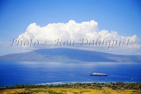Island of Lanai, viewed from West Maui Picture - Hawaiipictures.com