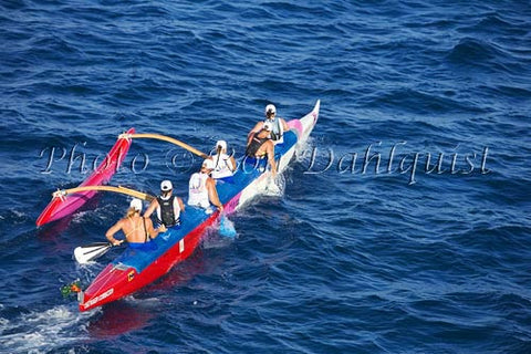 Outrigger canoe race from Molokai to Oahu. Sept. 2007 Photo