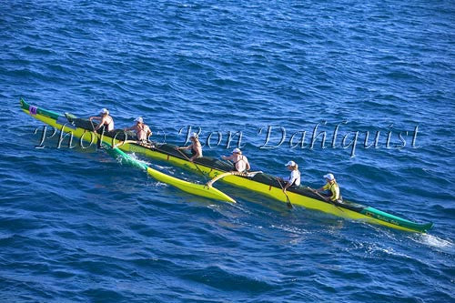 Outrigger canoe race from Molokai to Oahu. Sept. 2007 Picture Photo