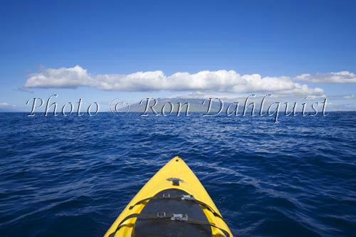 Kayaking off the south shore of Maui, Hawaii Picture Photo