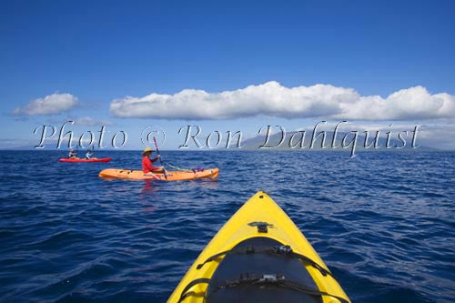 Kayaking off the south shore of Maui, Hawaii