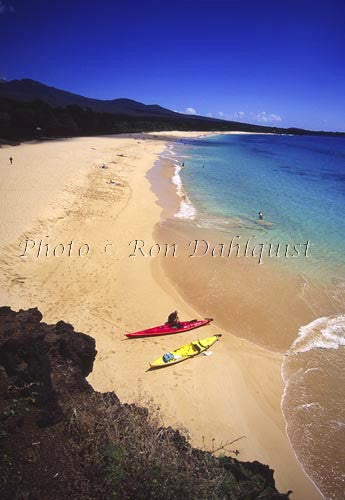 Kayaking, Big Beach, Oneloa, Makena, Maui, Hawaii - Hawaiipictures.com