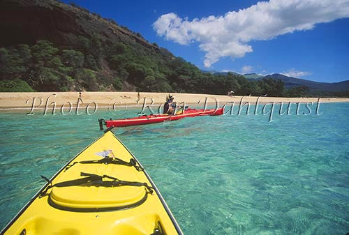 Kayaking at Big Beach, Oneloa, Makena, Maui, Hawaii