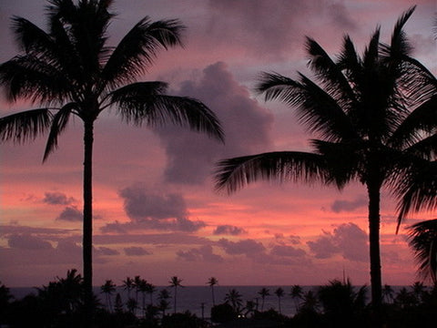 Picture Of Sunset At Poipu Kauai - Hawaiipictures.com