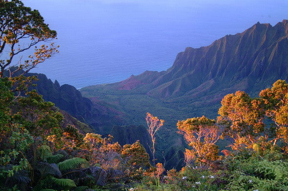 Kalalau Valley Picture At Sunset-Hawaiipictures.com