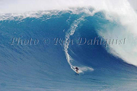 Makua Rothman, winning photo of the biggest wave ridden for the Billabong XXL contest. Jaws, Peahi, Picture - Hawaiipictures.com