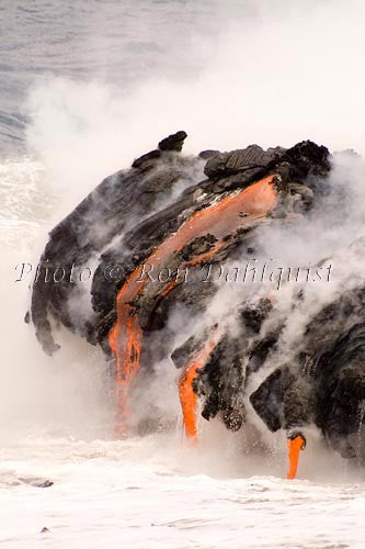 Lava pours in the Pacific Big Island of Hawaii