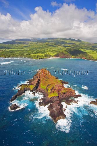 Aerial of Alau Islet, Koki Beach and Hana area, Maui, Hawaii - Hawaiipictures.com